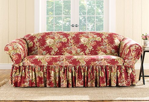Sure Fit Slipcovers Ballad Bouquet One Piece Slipcovers