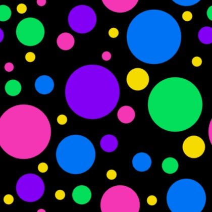 Purple Falling Circles Wallpaper Colorful Dots On Black Background Seamless Background Or