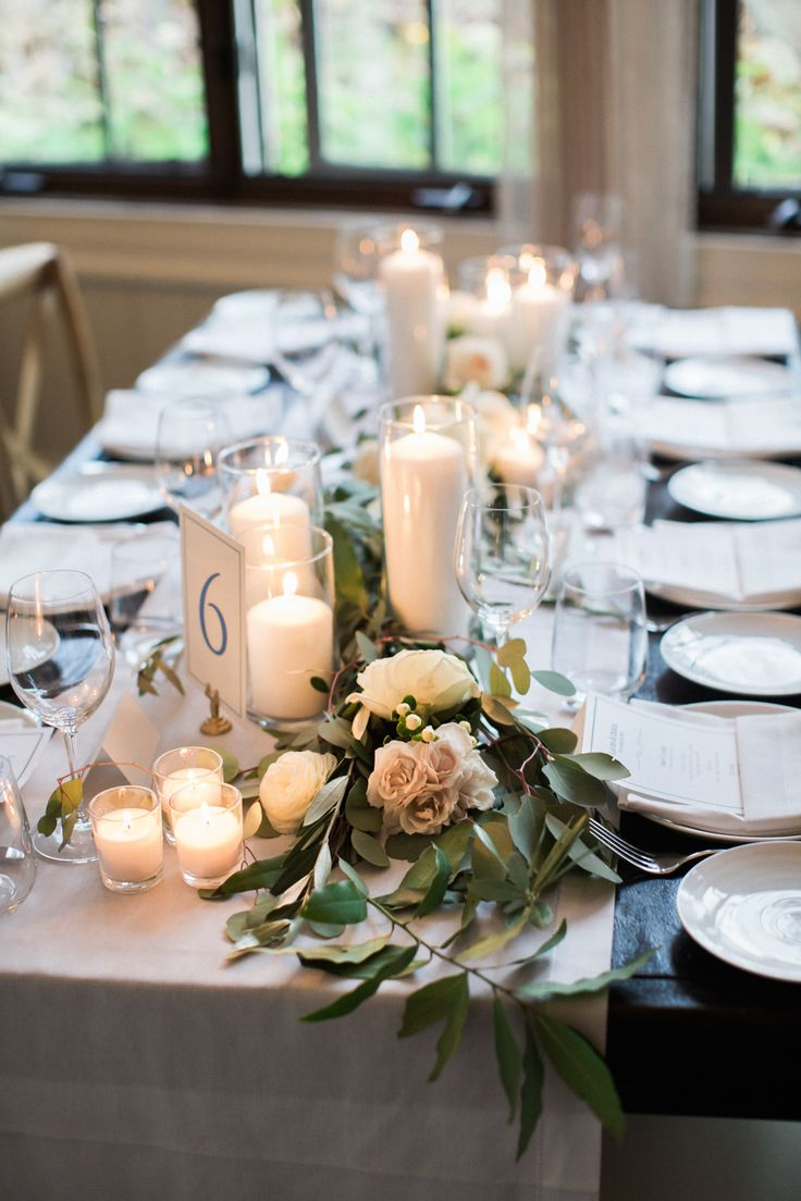 25 best ideas about Wedding table garland on Pinterest