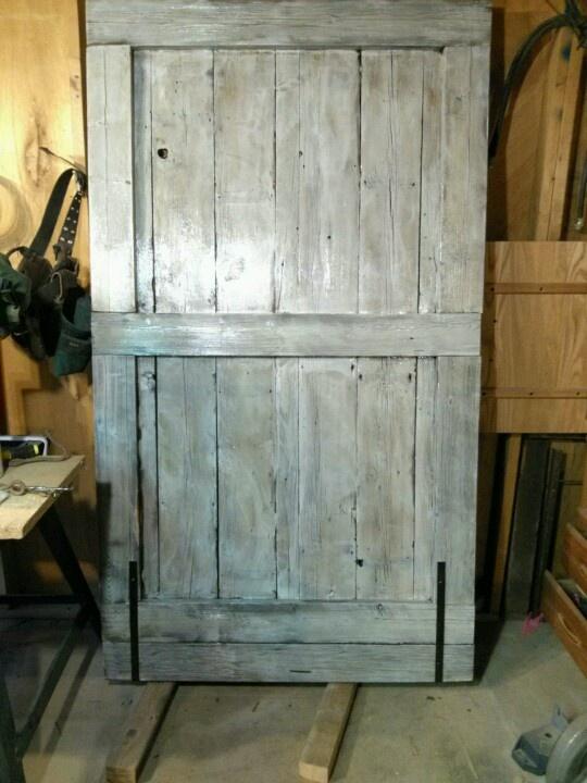 White washed barn door  Business  Pinterest  Barn doors