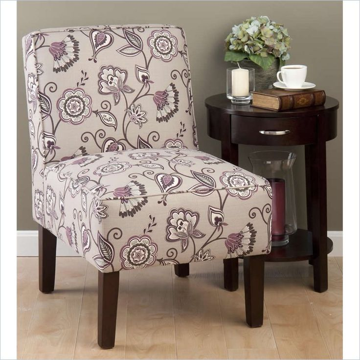 Jofran Erica Accent Chair in Plum  ERICACHPLUM  For