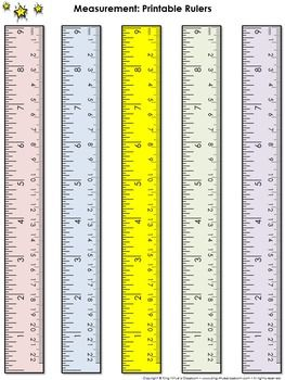 Ruler Measurement Tools: Printable Rulers (9 Inches and 22 ...