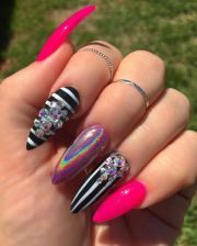 stripes bling and holographic