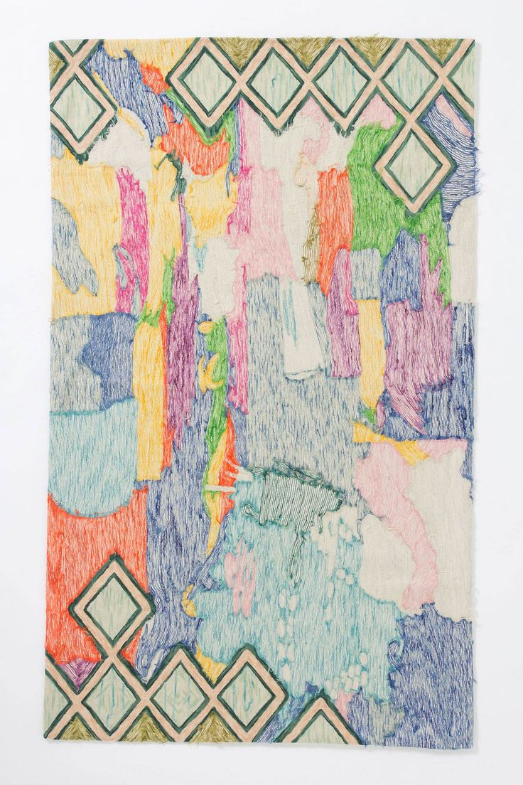 Crewel Abstraction Rug Anthropologie   the textile files  rugs  Pinterest