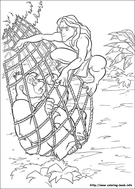 17 Best images about Coloring Pages/LineArt-Disney-Tarzan