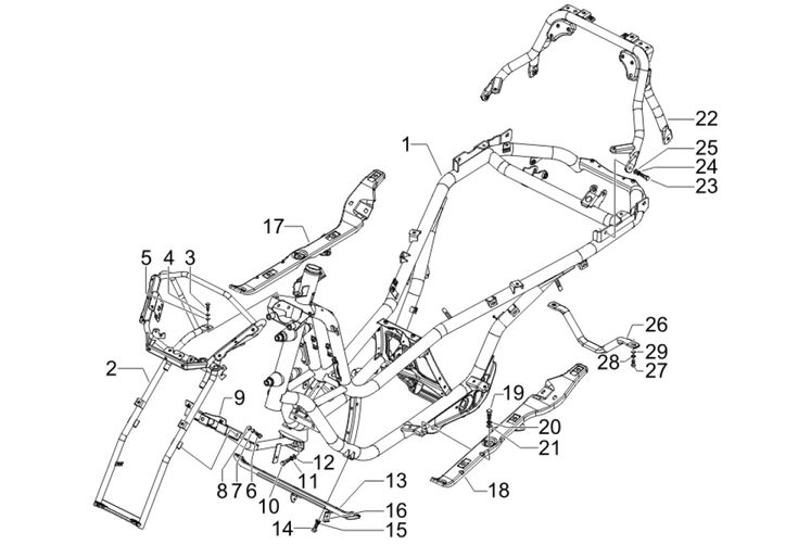Motorroller Ersatzteile Piaggio