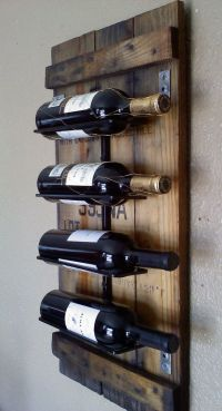 Wall Wine Rack made from Natural Blue Stained Pine | Mid ...