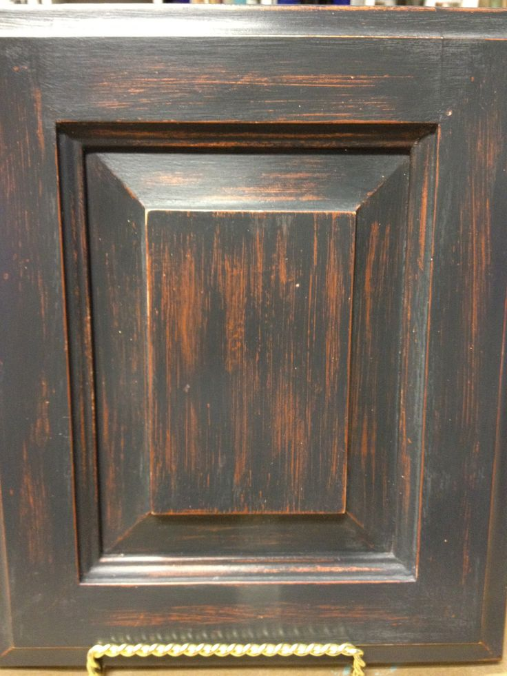 Cabinet door makeover painted with Chalk Paint in