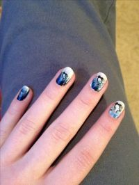 Pittsburgh Penguins nails! For the emblems by using mini ...