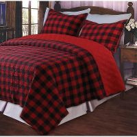 Details about RED BUFFALO PLAID Full / Queen QUILT SET ...