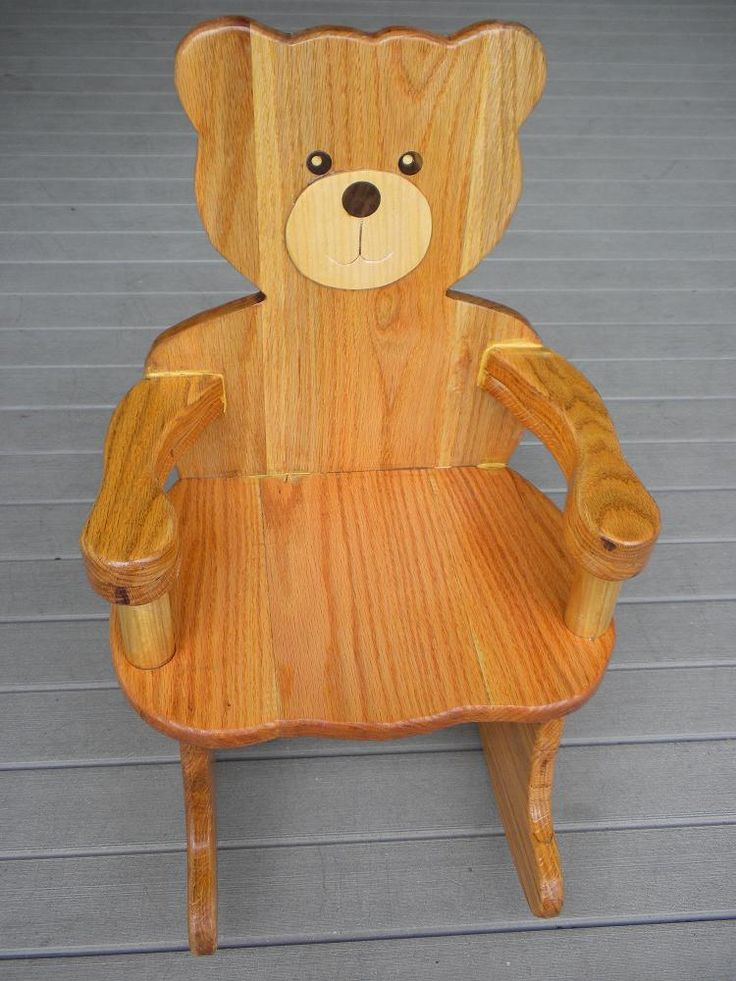 plans for Teddy Bear Rocking Chair Plan  Rated 4 Stars