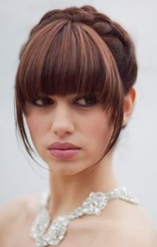 25 Best Ideas About Bangs Updo On Pinterest Wedding Hair