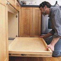 How to Install a Pull-Out Kitchen Shelf | Sliding shelves ...