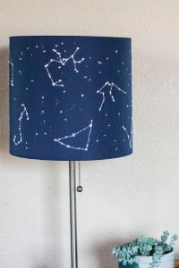 DIY constellation star lamp shade embroidering + tissue ...