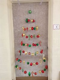 My Christmas door decoration for 2013. I won 1st place