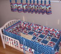 International Harvester Crib Bedding SET Rag Quilt Case ...