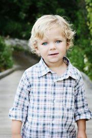 cute little boy with blonde hair