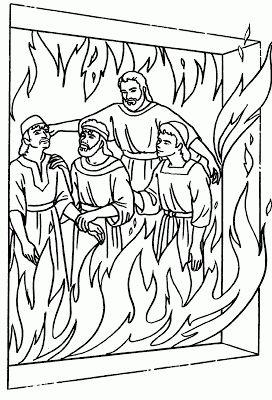 Sadrac, Mesac y Abednego en el horno de fuego--para