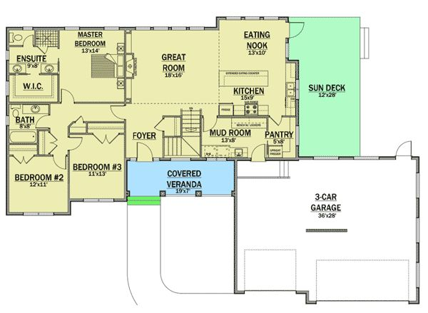Plan 81629AB: Single Story Living With Expansion Below