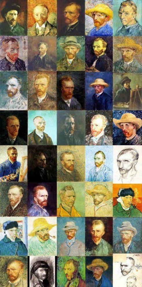 Pixels portraits de Vincent Van Gogh: