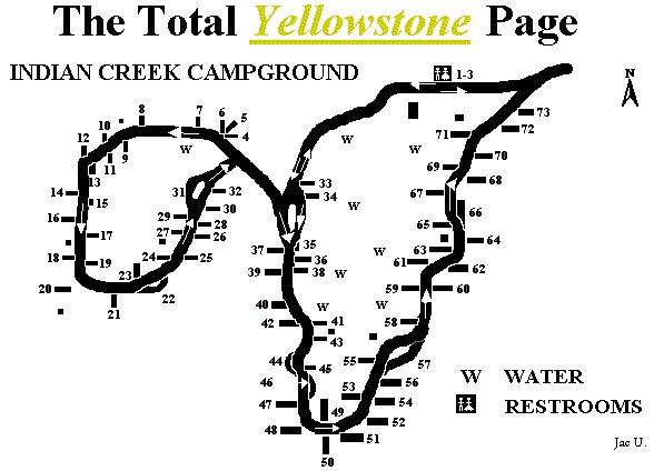 The Total Yellowstone Indian Creek Campground Page