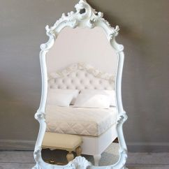 Accent Wall Paint Ideas For Living Room Virtual Design My Large Leaning Mirror, Ornate White Mirror ...