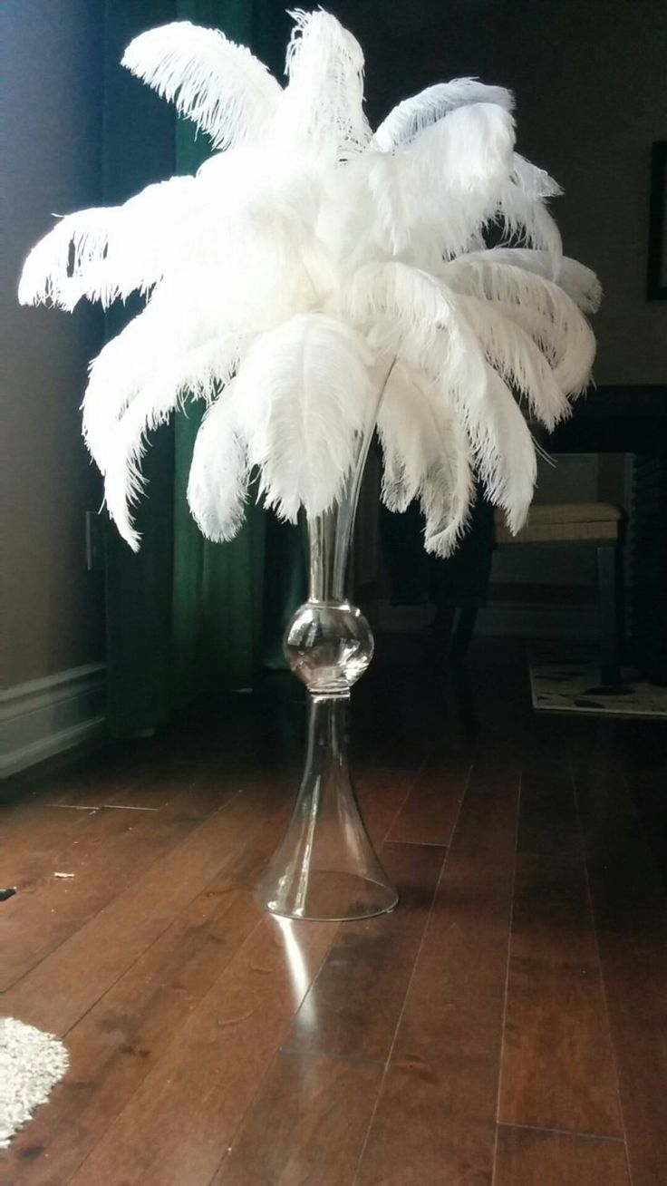 1000 ideas about Ostrich Feather Centerpieces on Pinterest  Feather centerpieces Centerpieces