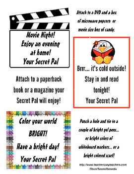 Secret Pal Tags And Notes Pick And Choose To Make Your