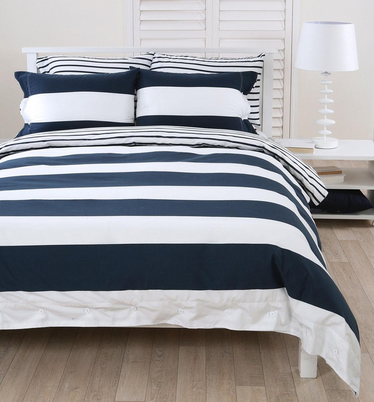 17 Best Images About Navy And White Duvet Cover On Pinterest Stripes Navy Duvet And Sheet Sets