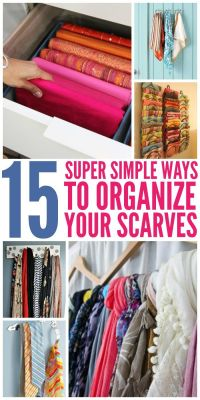 15 Super Simple Ways to Organize Scarves | Cas, Drawers ...