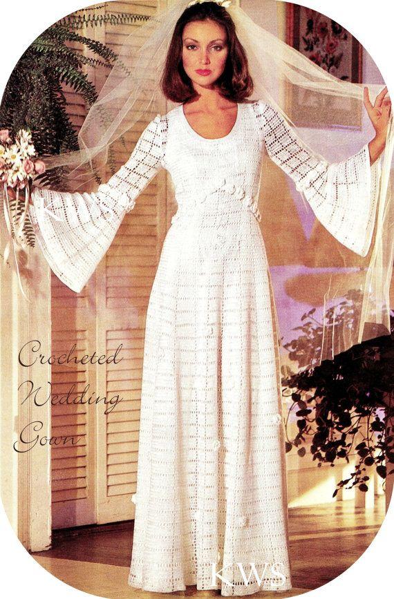 1000+ ideas about Crochet Wedding Dresses on Pinterest