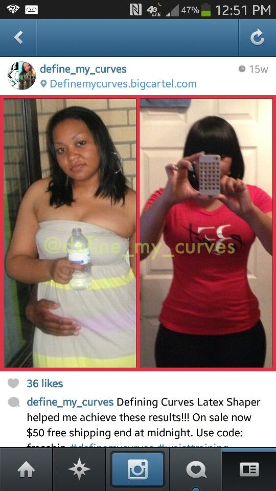 Results after 3 months of waist training  Waist training