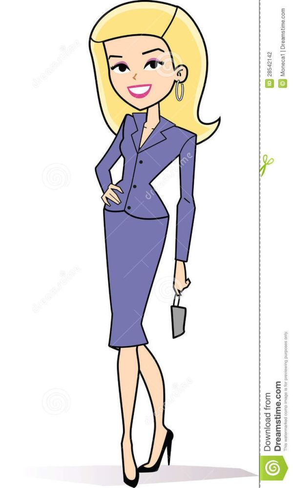 female blonde business clipart