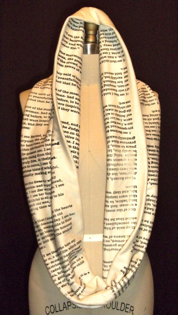 Wrap Up With A Good Book Scarf Pride and Prejudice by storiarts, $39.99