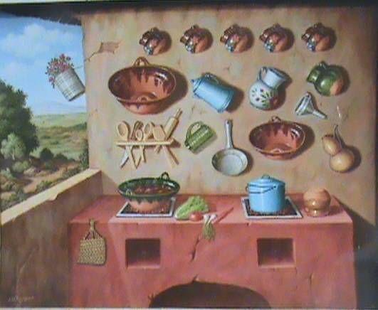Tradicional cocina Mexicana de hornos de carbon  Kitchens  Pinterest  Antigua