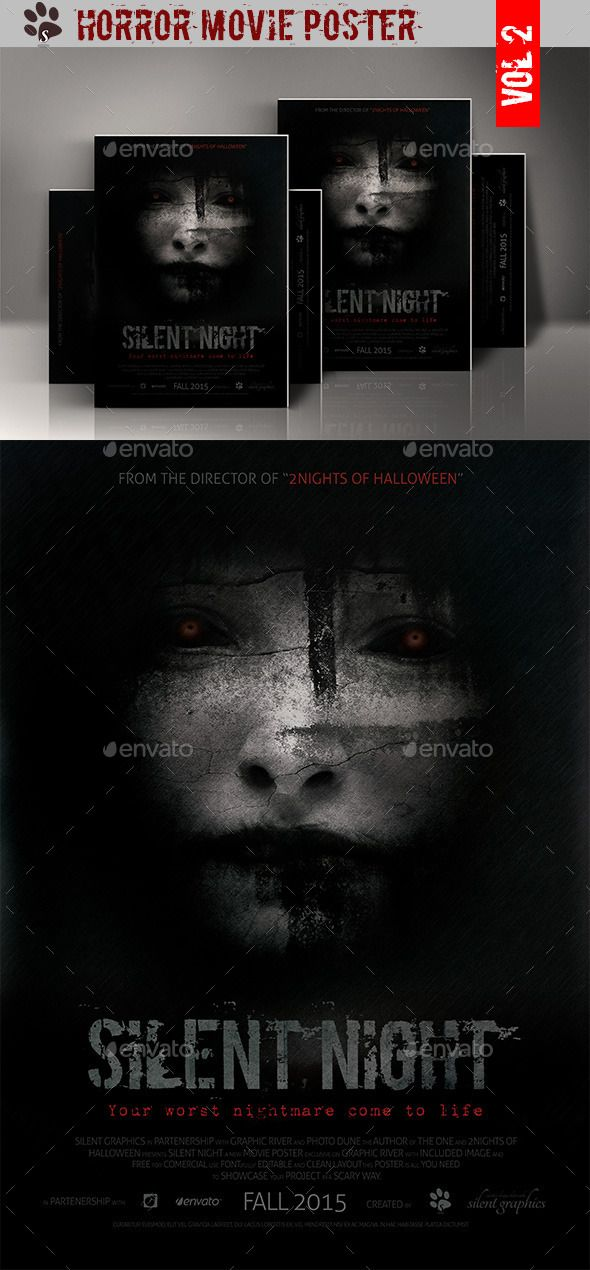 Horror Movie Poster  Movies Movie poster template and