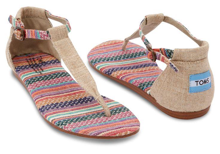 Mixed Woven Burlap Burlap Womens Playa Sandals