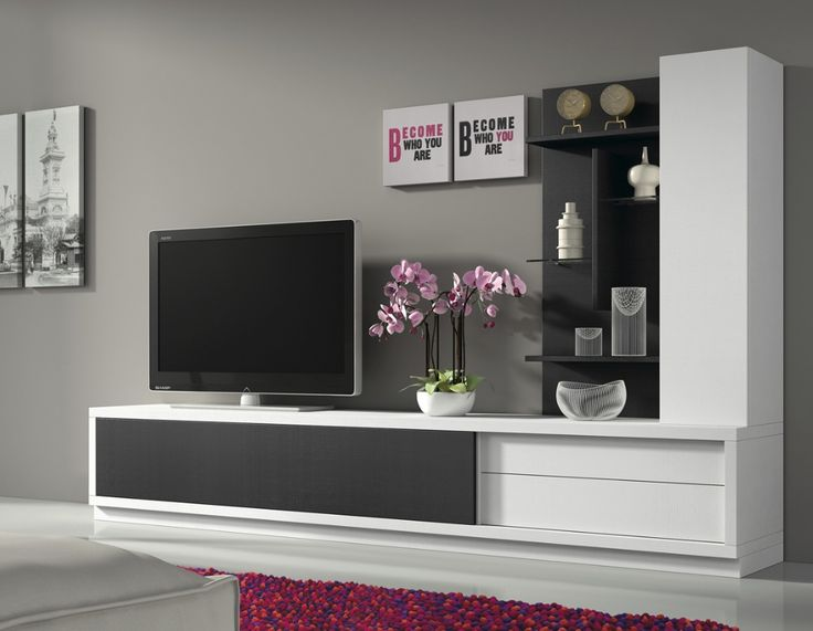 best ideas about meuble tele blanc on pinterest meuble tv blanc ... - Meuble Tele Mural Design