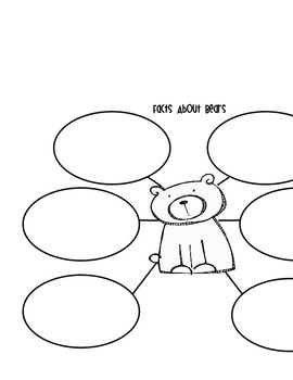 Facts about bears, Graphic organizers and Bear graphic on