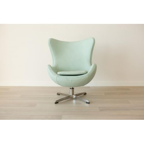 Incy Interiors Mini Egg Chair  Mint Green Leather  Mint