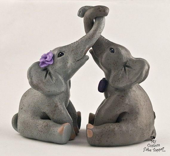 Elephants Love Wedding Cake Topper Elephant Cake Toppers