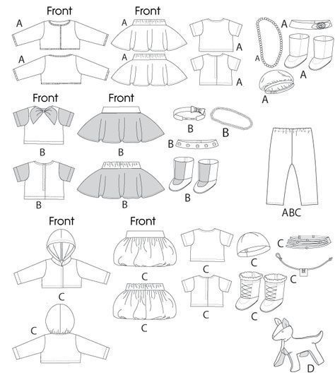 17+ best ideas about Doll Clothes Patterns on Pinterest