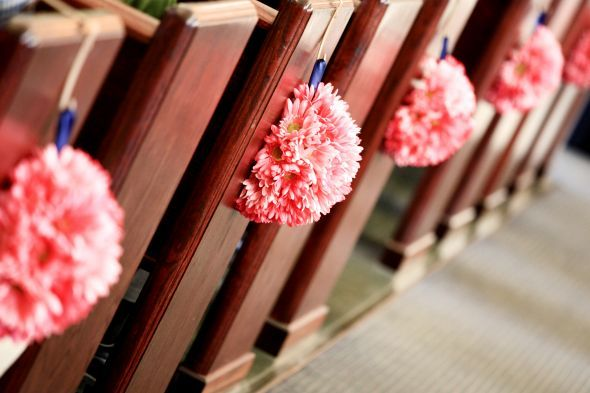 Pew Decorations Half Kissing Ball Wedding Ideas