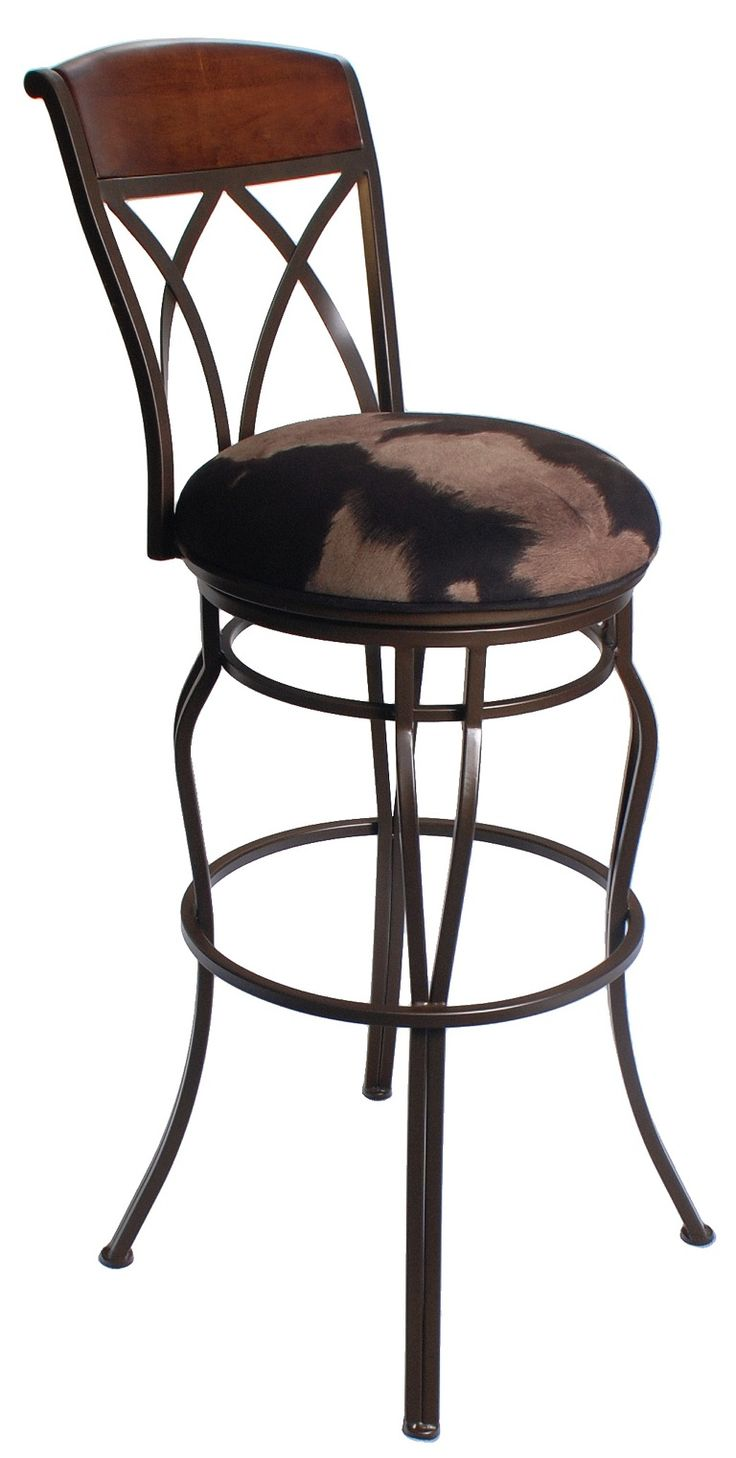Need extra tall bar stools in cowhide Weve got you
