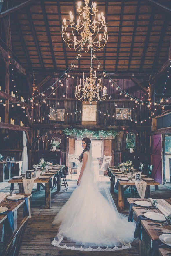 Rustic Elegant Barn Wedding  Wedding venues Receptions and The chandelier