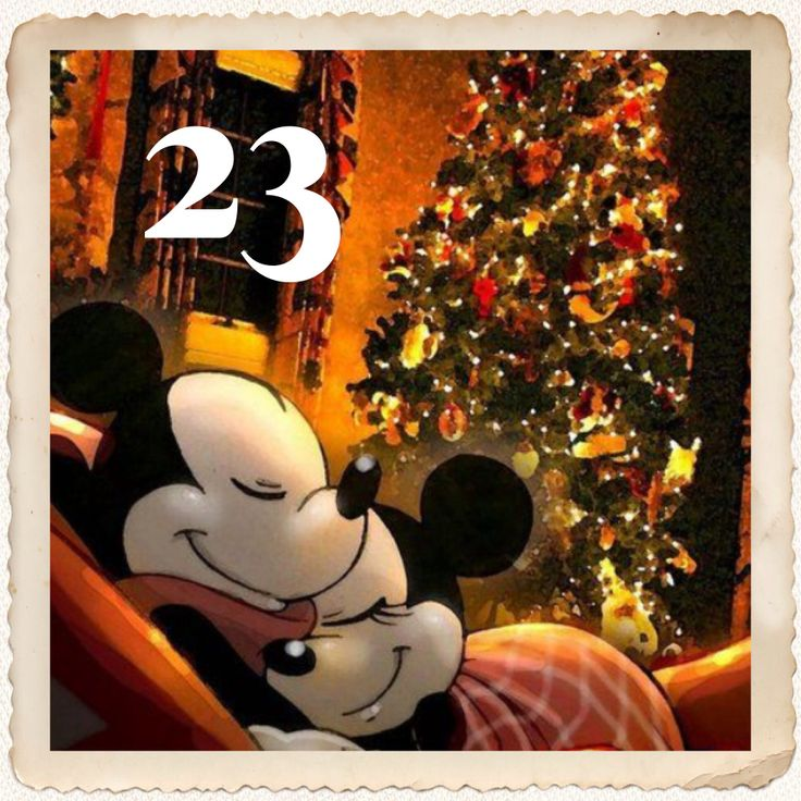 23 Days Until Christmas Mickey And Minnie Christmas