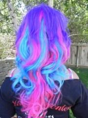 purple blue & pink cotton candy