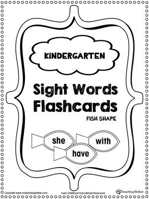 1000+ ideas about Sight Word Flashcards on Pinterest