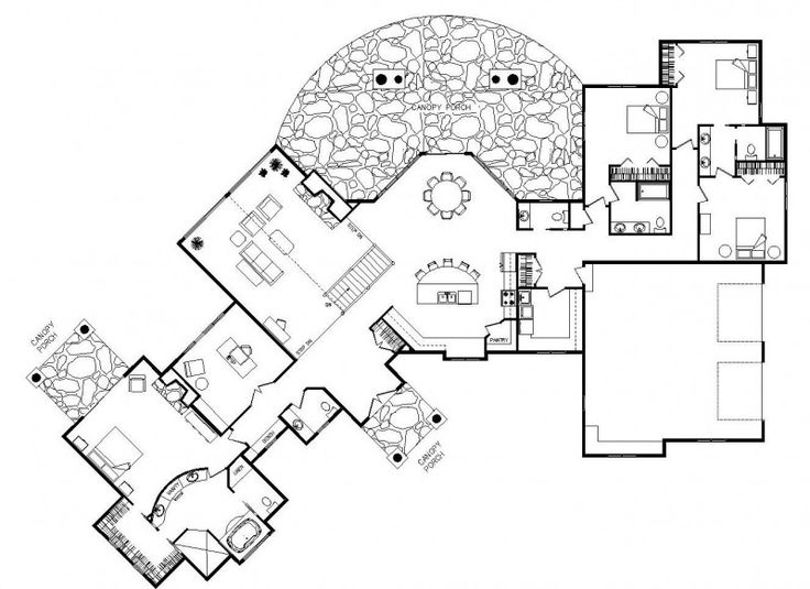 25+ best ideas about Unique floor plans on Pinterest