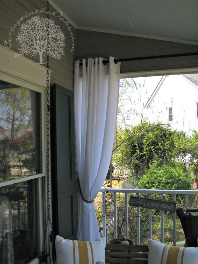 Porch Curtains Id like these on the deck off the master bedroom  Porch perfection  Pinterest